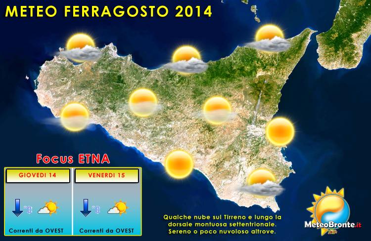 Previsioni meteo in Sicilia per Ferragosto - (C) MeteoBronte