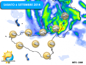 Le precipitazioni attese domani in Sicilia: meteo instabile sull'area tirrenica, più soleggiato altrove