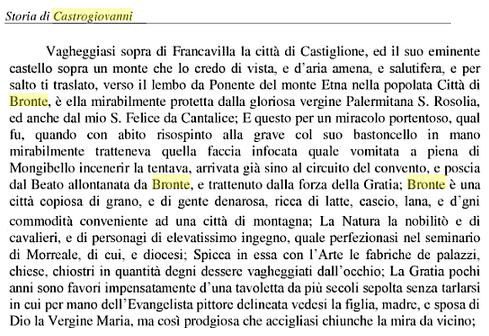 Bronte - Storie di Castrogiovanni