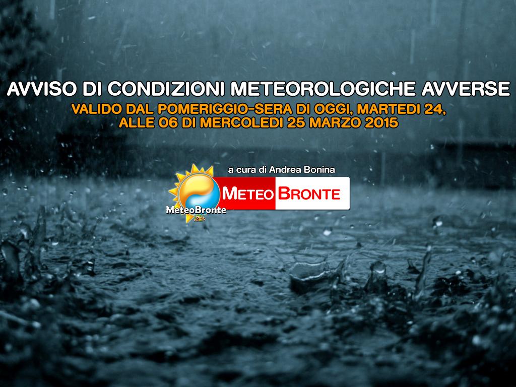 Condizioni meteo avverse Bronte - Maltempo