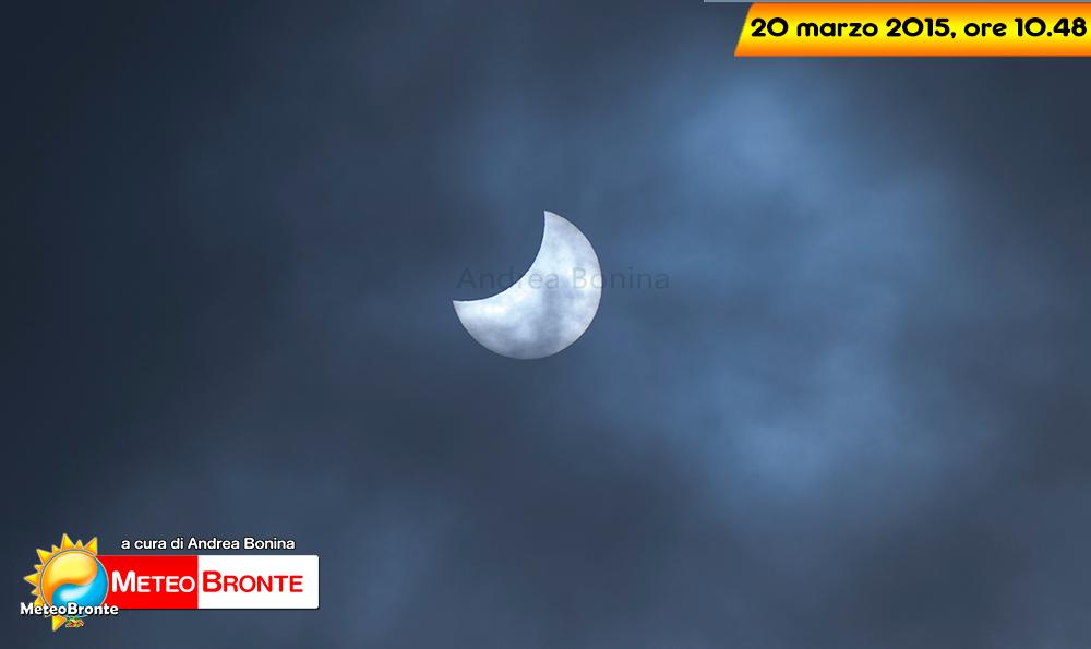 Eclissi solare a Bronte - foto di Andrea Bonina