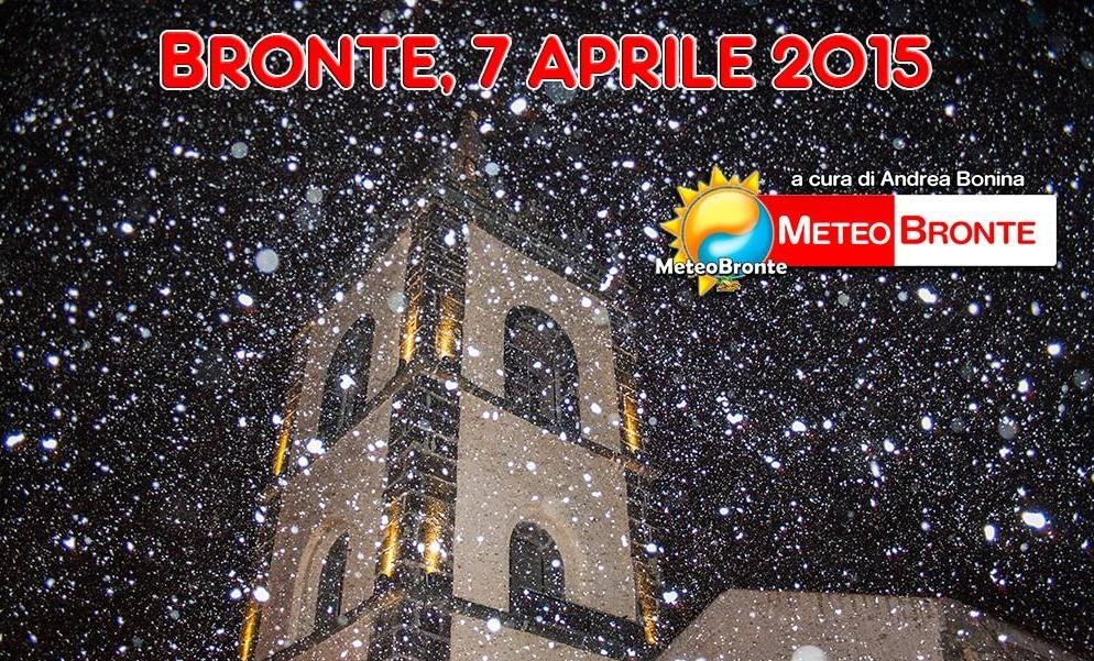 Bronte neve, 7 aprile