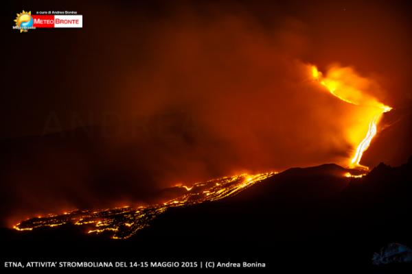 Etna, eruzione. Foto di Andrea Bonina
