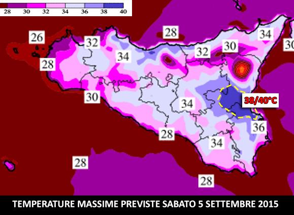 Temperature massime Sicilia