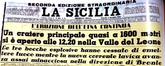La Sicilia, seconda edizione straordinaria del 2 dicembre 1949