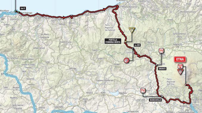 Cartina Percorso Giro D Italia 2017.Giro D Italia 2017 La Tappa Cefalu Etna Attraversera Bronte Percorso Orari E Diretta Tv Meteo Bronte Di Andrea Bonina