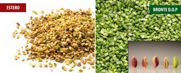 Distinguere il pistacchio sgusciato osservandone il colore.